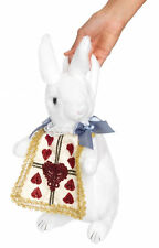 White Rabbit Purse Stuffed Plush Novelty Handbag Alice In Wonderland Costume Acc