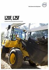 Volvo Construction L20F 08 / 2015 catalogue brochure loader chargeur