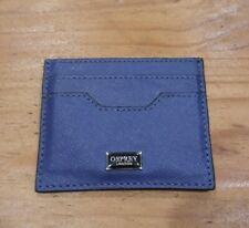 Osprey London Blue Leather Debit Credit Card Holder Wallet