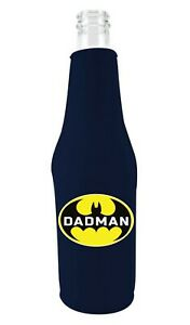 Dadman Neoprene Zipper Beer Bottle Coolie, Father's Day Funny
