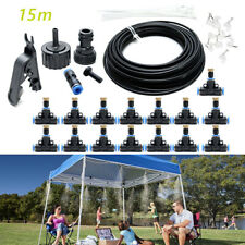 19.6Ft/30Ft/50Ft Fan Patio Water Mist Cooler Outdoor Misting Cooling System