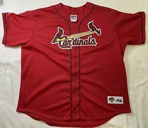 St. Louis Cardinals BASEBALL JERSEY Batting MAJESTIC Red XXL MESH McGwire #25