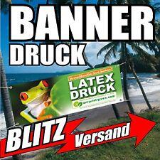 Werbebanner Werbeplane PVC-Plane Banner 250 x 80cm, Druck u. Ösen, wetterfest