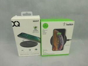 2 x Wireless Mobile Phone Charging Pads Belkin & Xqisit Brands New & Boxed