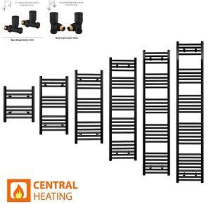 Black Heated Towel Rail Bathroom Designer Matt Ladder Slim Radiator Niche All UK