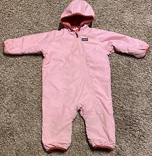 Patagonia Baby Girls Pink Reversible Snowsuit Size 18 Months
