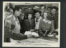 JANE WYMAN, BETTY DAVIS + JACK CARSON WITH WWII VETS - 1944 HOLLYWOOD CANTEEN