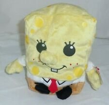 Spongebob 2011 TY Beanies Pluffy Pluffies 7in Square Pants doll toy 32141