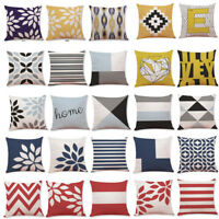 Geometric Cotton Pillow Case Waist Throw Cushion Cover Home Sofa Decor Latest