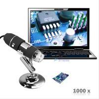 2MP 1000X 8 LED USB Digital Camera endoscope Microscope Zoom la Loupe & socle MT