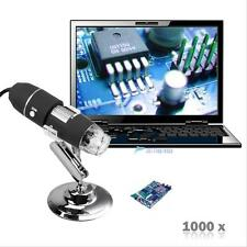 2MP 1000X 8 LED USB Digital Camera endoscope Microscope Zoom la Loupe & socle GR