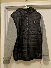 Reebok Men's Mixed Media Down, Fleece Jacket
