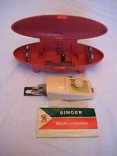 Vintage Singer Buttonholer in Pink Torpedo Case