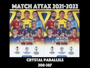 TOPPS MATCH ATTAX 2021-2022 2021/22 CRYSTAL BASE CARDS 208-387