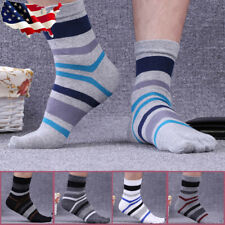 5 pairs Men's Cotton Five Finger Toe Socks Breathable Casual Thermal Size 7-11