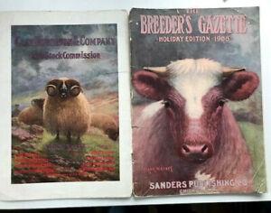 BREEDER'S GAZETTE -- 1908 HOLIDAY EDITION -- GEORGE FORD MORRIS + 2 COLOR PLATES