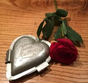WONDERFUL  ANTIQUE  CHOCOLATE Mold ~1930s  Heart JOH. FOHN  VIENNA