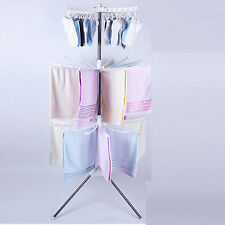 Portable Hanging Clothes Drying Line Airer Hanger Laundry Rack Outdoor Indoor