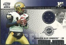 2003 Pacific - KHARI JONES - Game Used Jersey - CFL WINNIPEG BLUE BOMBERS