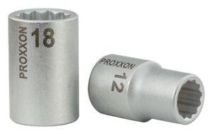 "PROXXON 1/2""-Vielzahn-Steckschlüsseleinsatz 12-kant 19 mm"