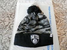 Brooklyn Nets Beanie Cap Hat, New '47 Brand Gray/Black Tigershade Knit Hat