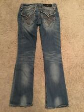 Rock Revival  Women's Patty Boot Jeans Size 28 Inseam 32 Ultra Low