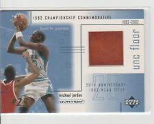 2001 Ud Ovation Michael Jordan 1982 NCAA Championship UNC Game Used Floor #MJF5