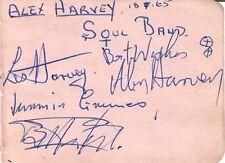 ALEX HARVEY SOUL BAND (with LES HARVEY 1965) SIGNED AUTOGRAPHS