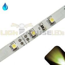 Warm/Soft White - PLCC2/3528 12V LED Strip - Adhesive Backing - Water Resistant