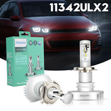 Philips Ultinon LED H4 6000K Pure White Headlight Bulbs Brighter+160% 11342UL-B