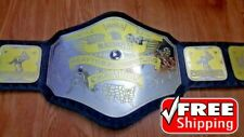NWA NATIONAL HEAVYWEIGHT Championship Belt Title Gold Plated 4mm Adult Size