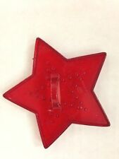"""Red 5 Point 3 1/4"""" Hrm Star Cookie Cutter Art Mold"""