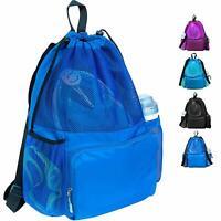 Drawstring Swimming Mesh Bag for Swim Gym Beach Backpack & Dry/Wet Separation