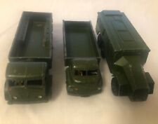 3 x Dinky Military Lorries -  Playworn