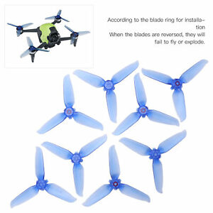 8Pc Drone Propeller Low Noise UAV Spare Blades Replacement Part for DJI FPV Blue