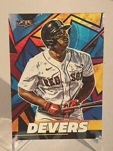 2021 Topps Fire Rafael Devers Magenta Foil #d 3/25 Boston Red Sox