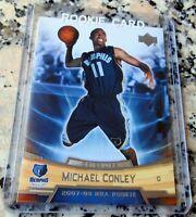 MIKE CONLEY JR. 2007 Upper Deck #1 Draft Pick Rookie Card RC Utah Jazz HOT $$$