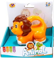 Baby Kids LION Toy Animal Cartoon Friction 3-4 inch with handle for kids Age 1-5