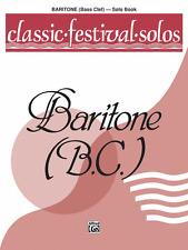 """CLASSIC FESTIVAL SOLOS FOR BARITONE B.C."" MUSIC BOOK-VOLUME 1-BRAND NEW ON SALE"