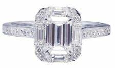 Anelli di lusso smeraldo di fidanzamento