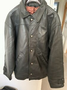 Mens Vintage Genuine Leather Jacket - Black