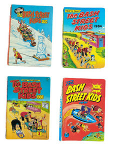 Bash Street Kids Annual 1982,1984,1986,1991 Beano comic 4 Vintage Annuals