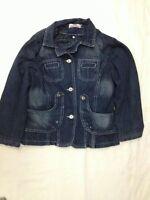 Giubbotto di Jeans imbottito - MG - taglia 12 anni - chiusura a bottoni - usato