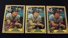 Teddy Higuera Brewers 1987 Topps #250 Brewers Signed Authentic Autograph JA15