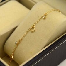 "18K Yellow Gold Filled Bracelet Chain 9.3""Anklet Link Gf Cz Fashion Jewelry Gift"