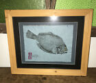 Gyotaku original Fish print... signed and stamped by artist SOUTHERN FLOUNDER