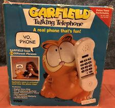 Garfield talking phone, vintage tyco 1992, original box, land line phone