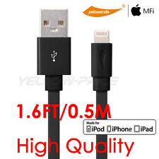 [Apple MFI Certified] 8-pin Lightning to USB Cable Cord 1.6FT Charger for iPhone