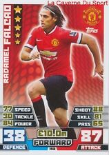 198 RADAMEL FALCAO # MANCHESTER UNITED COLOMBIA CARD MATCH ATTAX 2015 TOPPS
