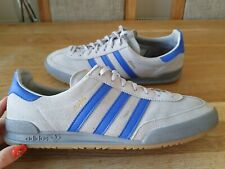 ADIDAS JEANS CQ2769 SUEDE GREY/BLUE TRAINERS MENS SIZE UK12 GENUINE